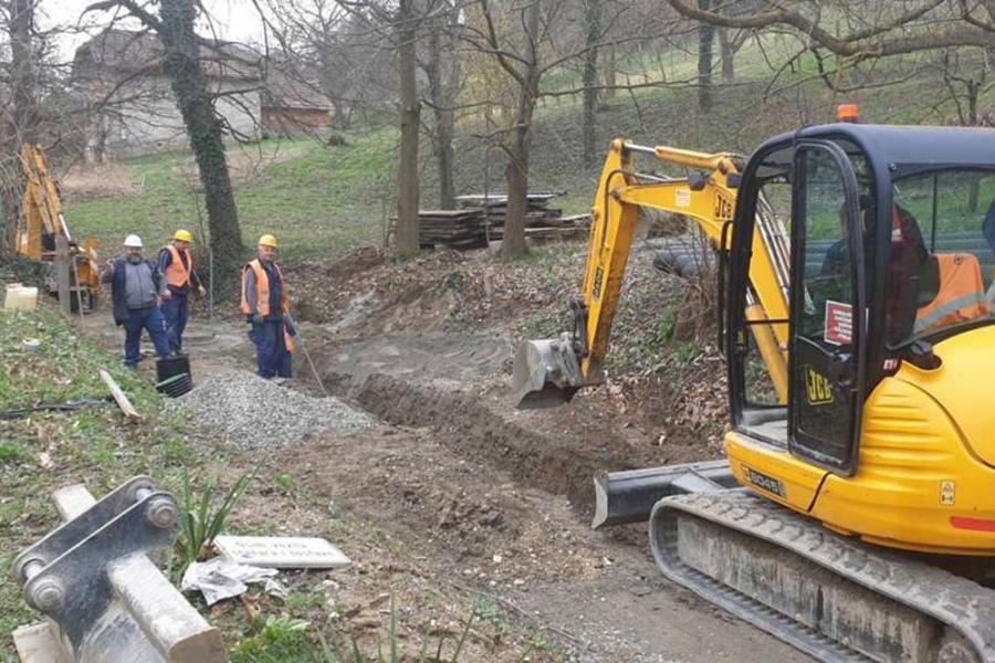 Radovi na proširenju vodovodne i kanalizacijske mreže