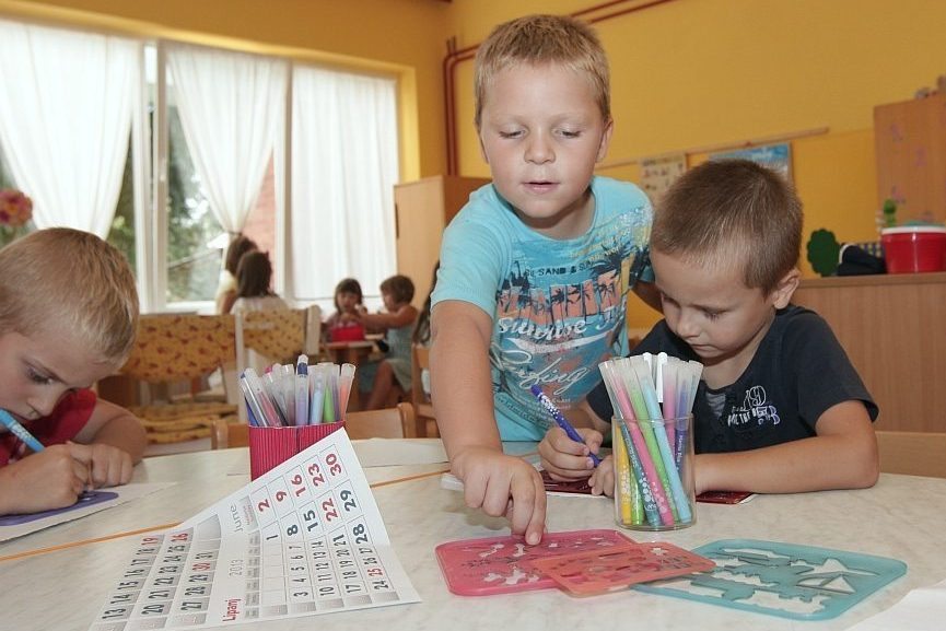 Djeca u dječjem vrtiću Maslačak u Đurđevcu