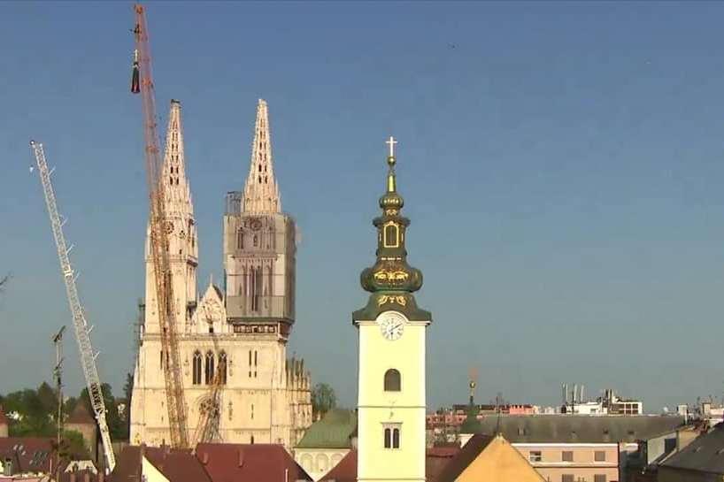 Skiadnje sjevernog tornja zagrebačke katedrale