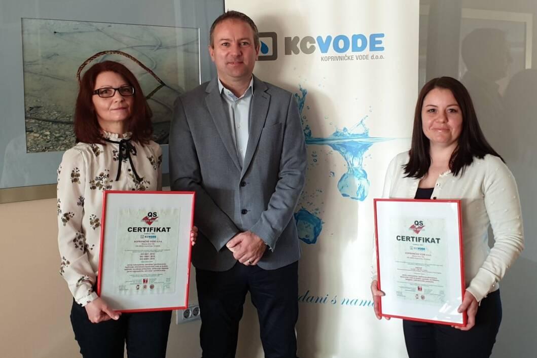 Koprivničke vode postale nositelj certifikata ISO 45001:2018