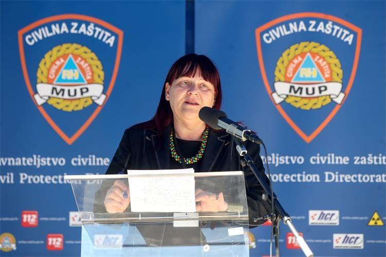 Načelnica Kriznog stožera Ministarstva zdravstva i ravnateljica Hrvatskog zavoda za hitnu medicinu Maja Grba-Bujević