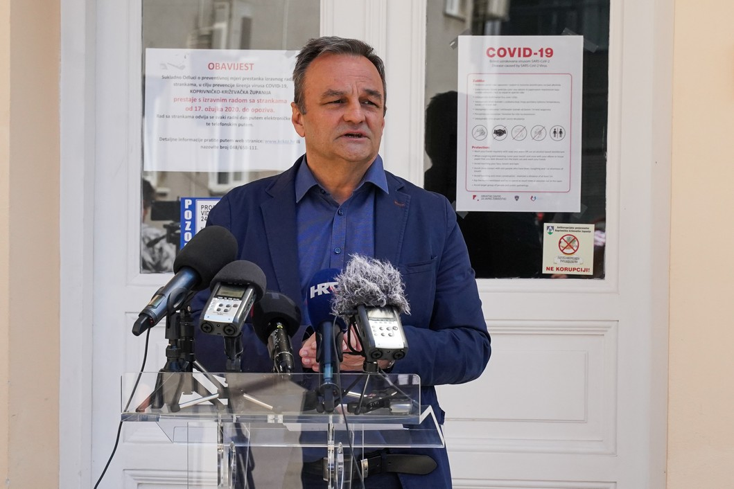Koprivničko križevački dožupan Ratimir Ljubić // Foto: Luka Krušec / LuMedia