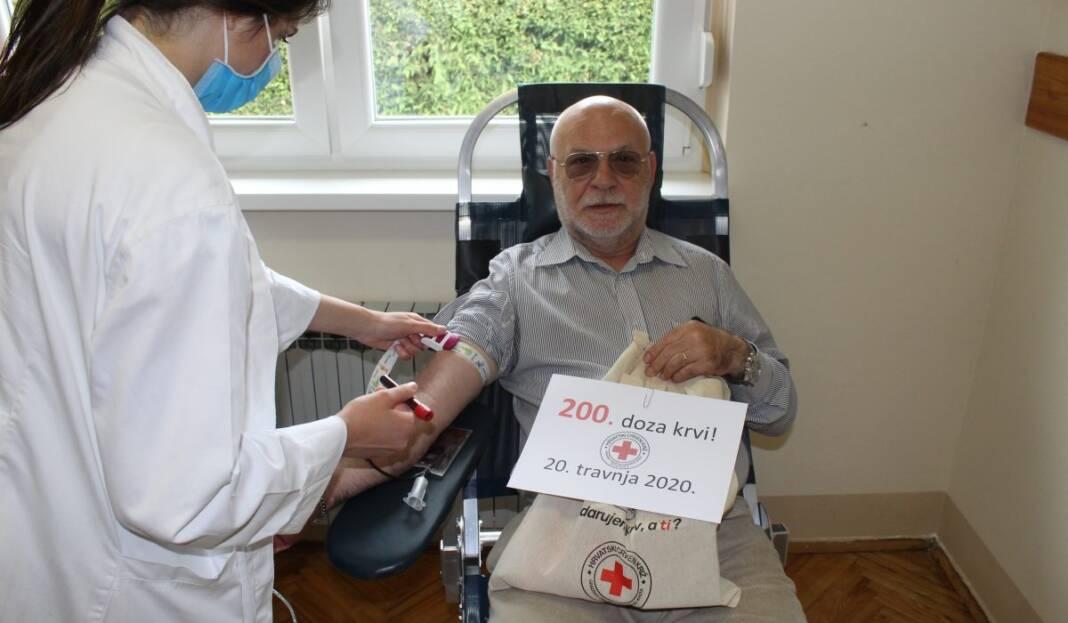 Stjepan Lončar dobrovoljni darivatelj krvi