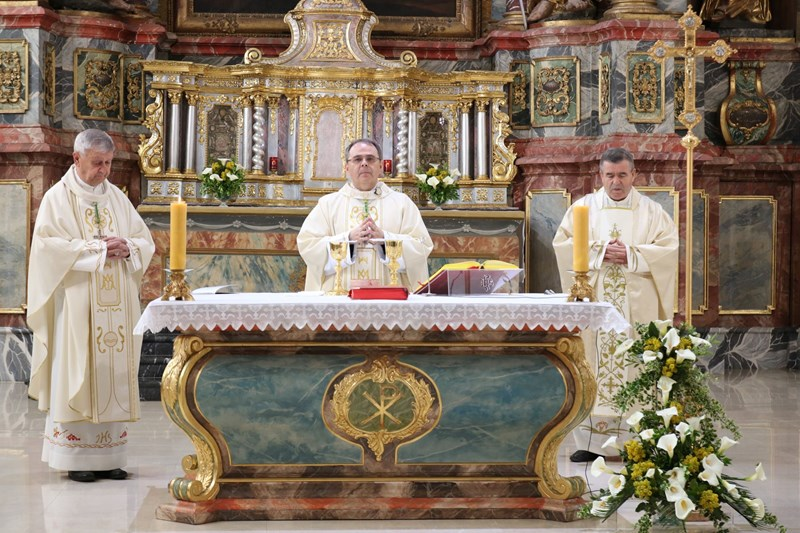 Misno slavlje na Uskrs u varaždinskoj katedrali
