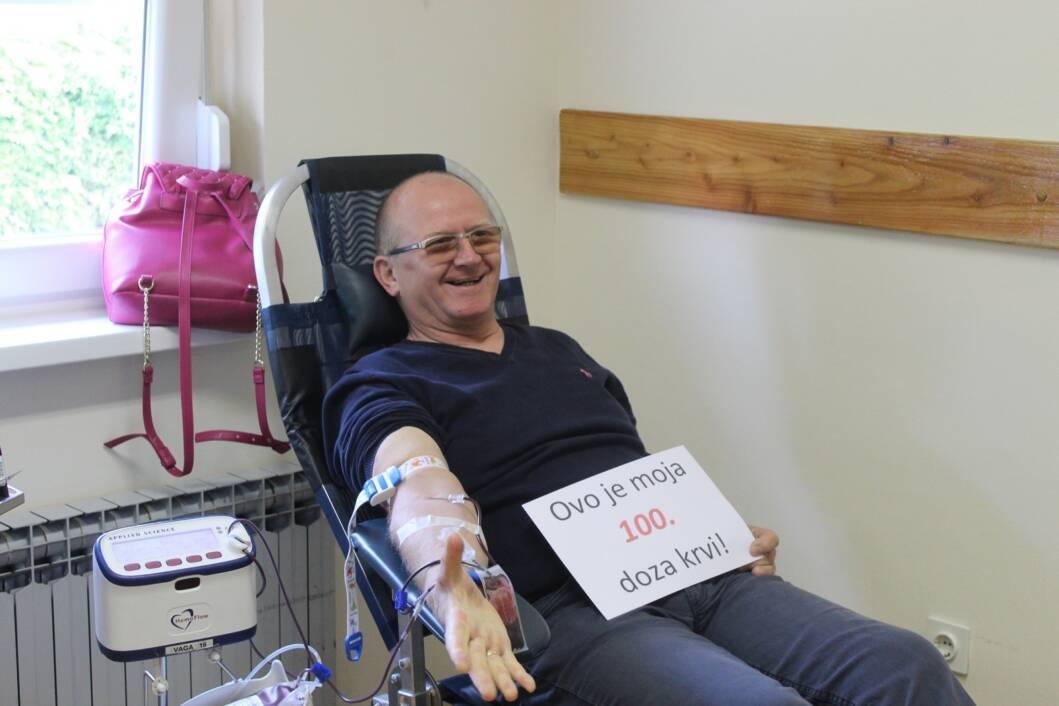 Dobrovoljno darivanje krvi, Branko Blažek
