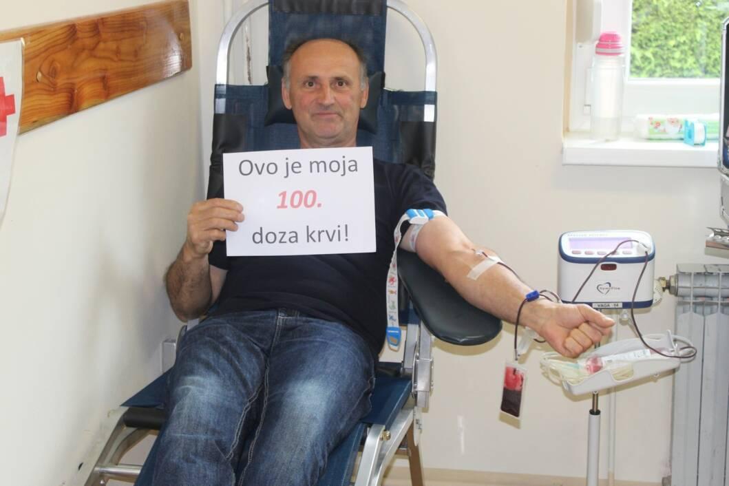 Dobrovoljni darivatelj krvi Ivica Grudić iz Rasinje