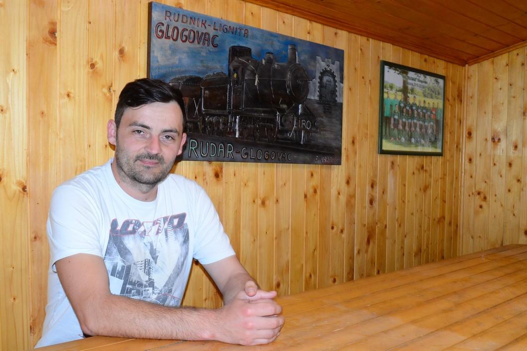 Marko Martinović, bivši predsjednik NK Rudara iz Glogovca, član uprave i vratar