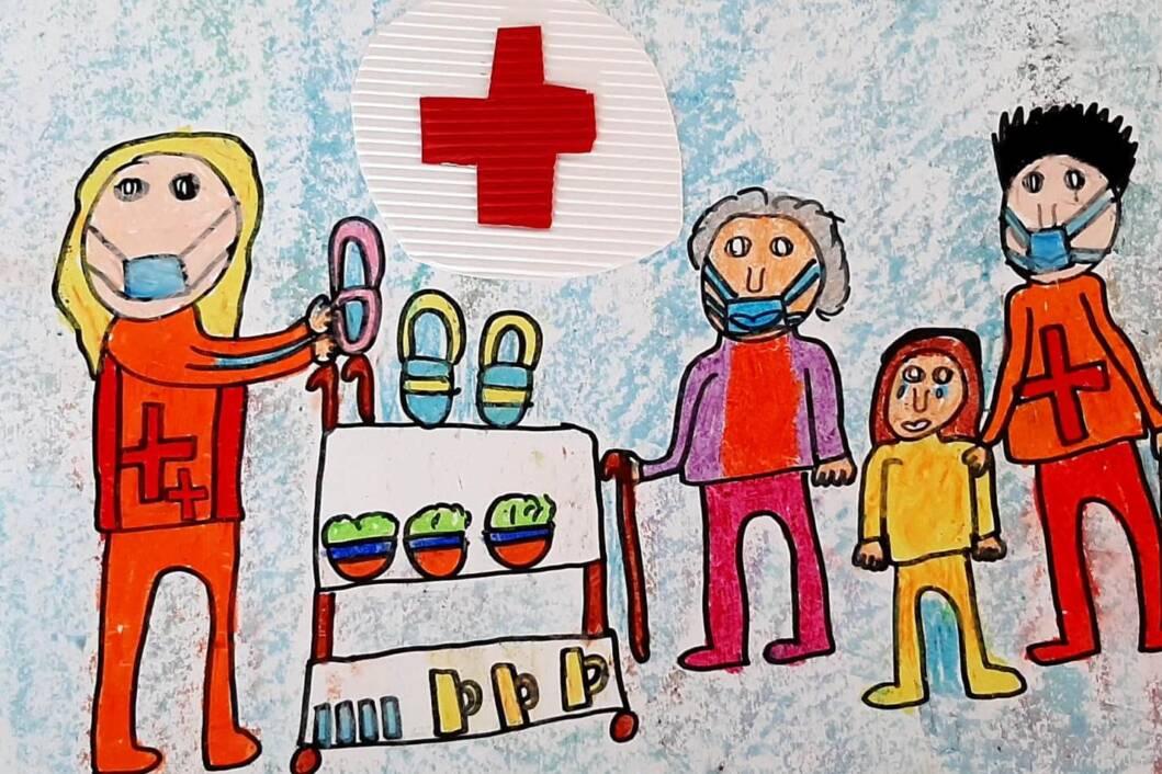 Volonteri daju ljudima hranu, Mirjana Dolenec