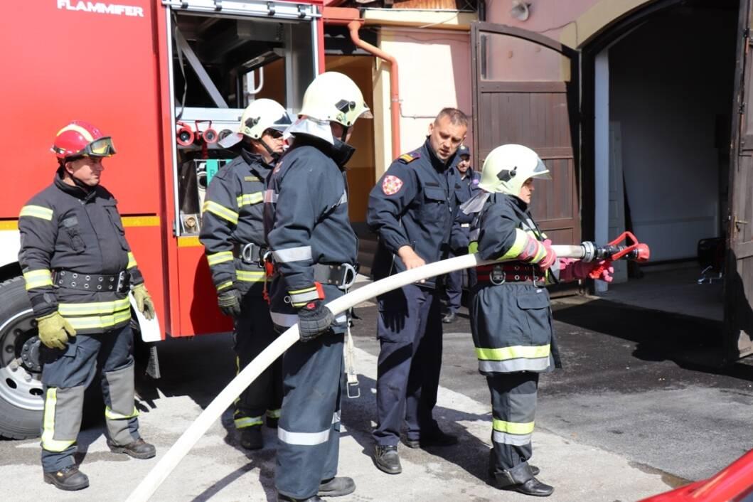 Osposobljavanje za vatrogasne dočasnike u Koprivnici