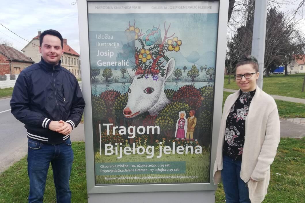Izložba ilustracija Josipa Generalića Tragom Bijelog jelena