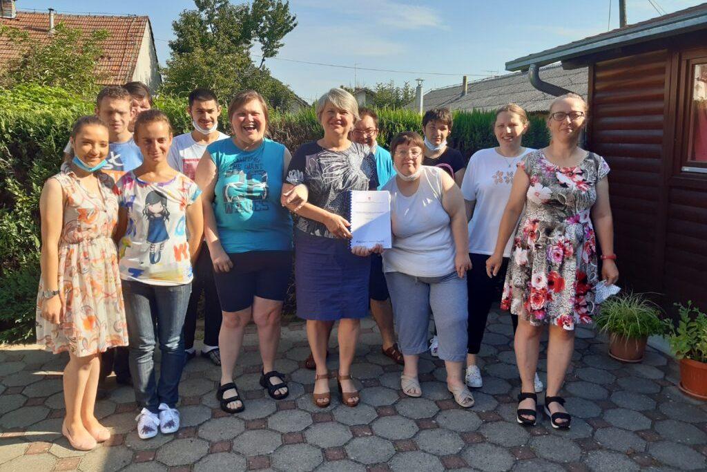 Članovi udruge Mali princ i predsjednica Udruge Kristinka Štefan