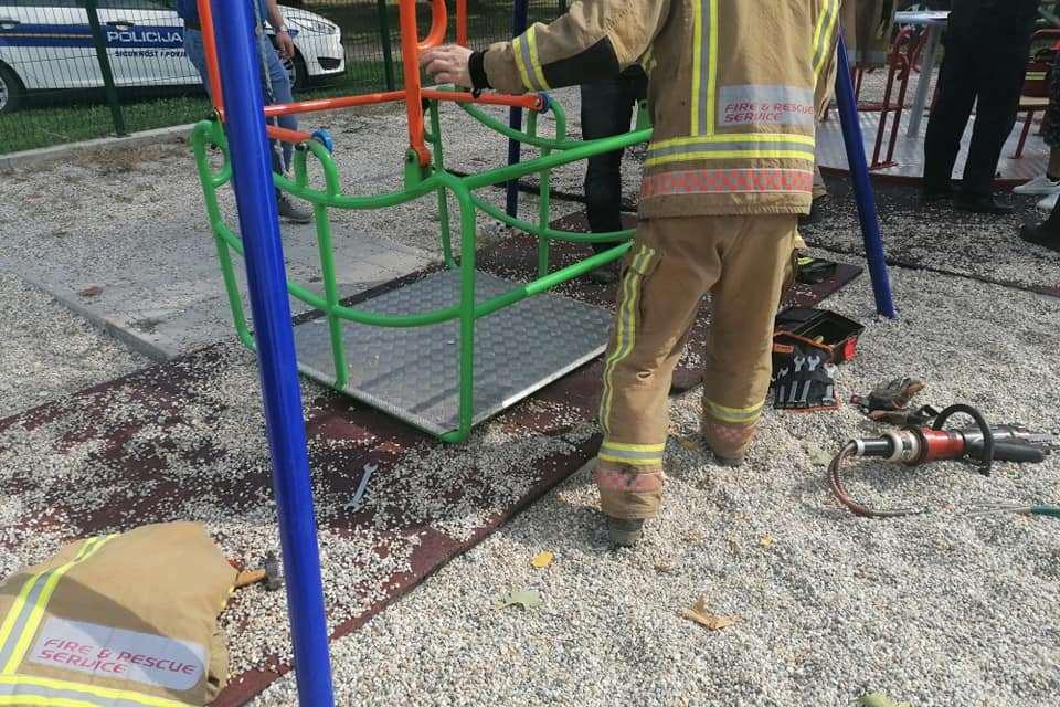 Vatrogasna intevencija na dječjem igralištu u Ludbregu