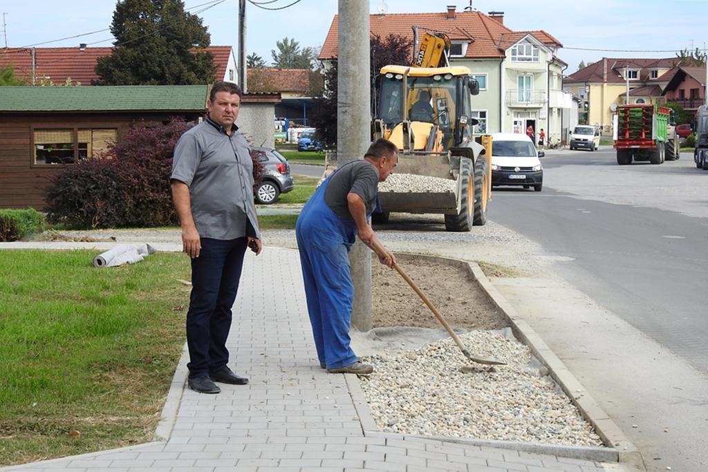 Načelnik Općine Veliki Bukovec Franjo Vrbanić u obilasku radova