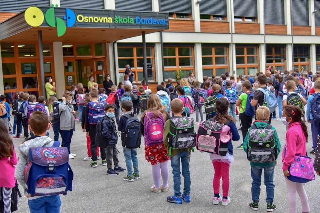 Prvi dan škole u OŠ Đurđevac