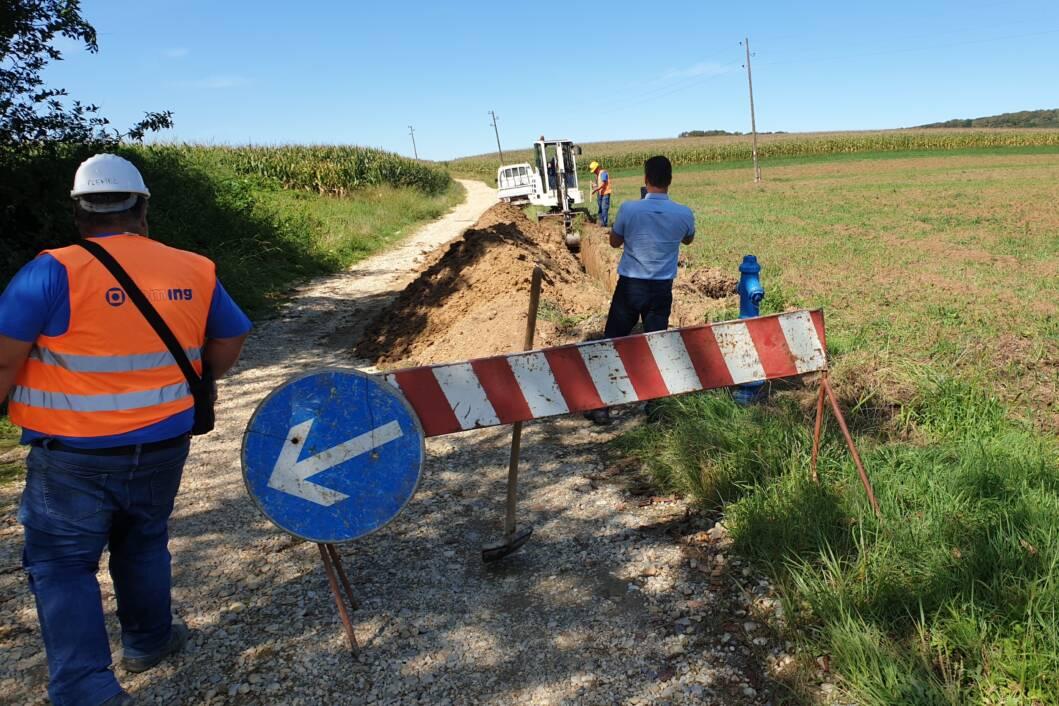 Radovi na proširenju vodovodne mreže u općini Sokolovac