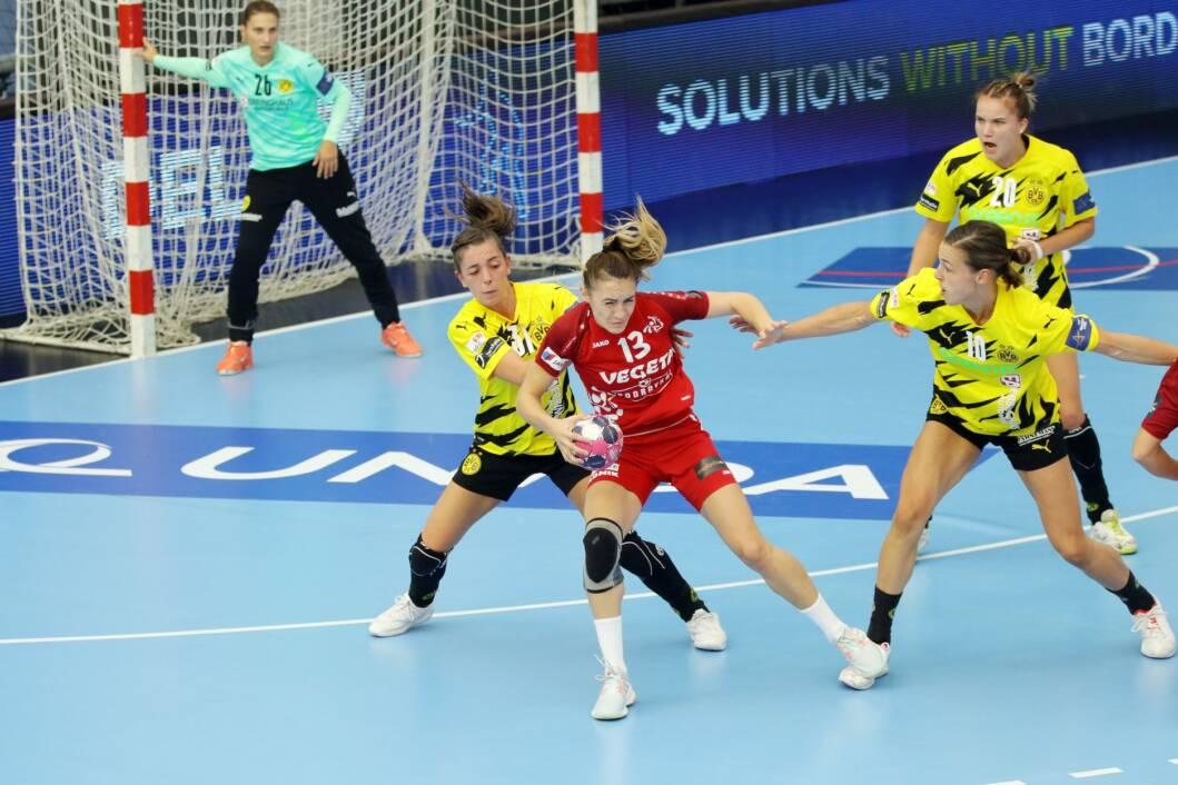 Detalj s utakmice između Podravke Vegete i Borussije Dortmund