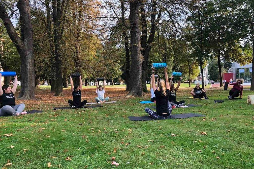 Vježbanje u koprivničkom parku