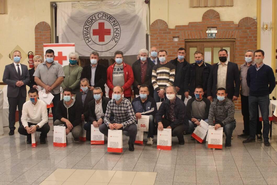 Dodjela priznanja dobrovoljnim darivateljima krvi