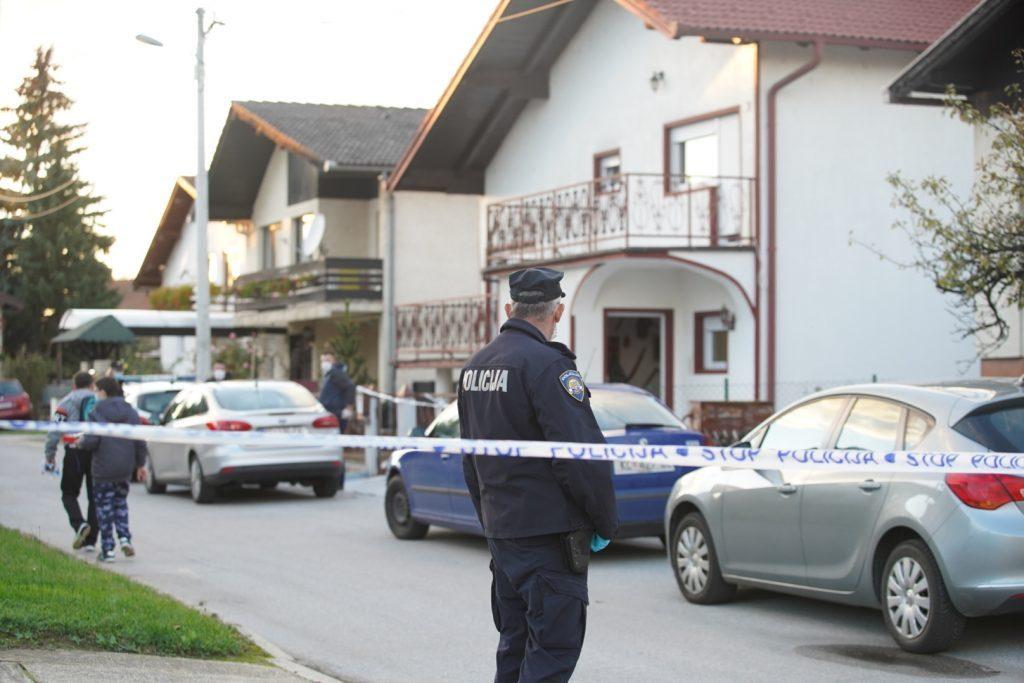 S mjesta događaja ubojstva u Omladinskoj ulici u Koprivnici