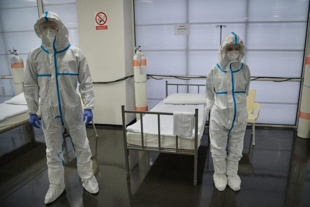 Stacionar za pomoć zdravstvenom sustavu u razdoblju pandemije u Areni Zagreb | Foto: MORH / F. Klen