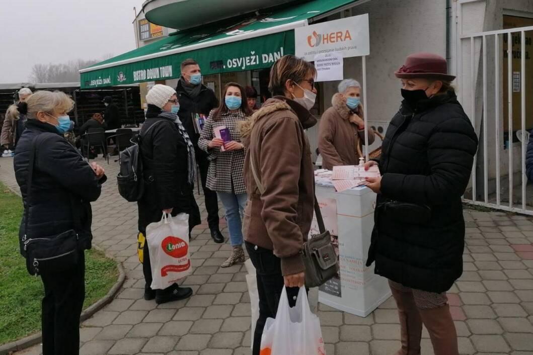 U Đurđevcu održana javna akcija povodom obilježavanja Međunarodnog dana borbe protiv nasilja nad ženama