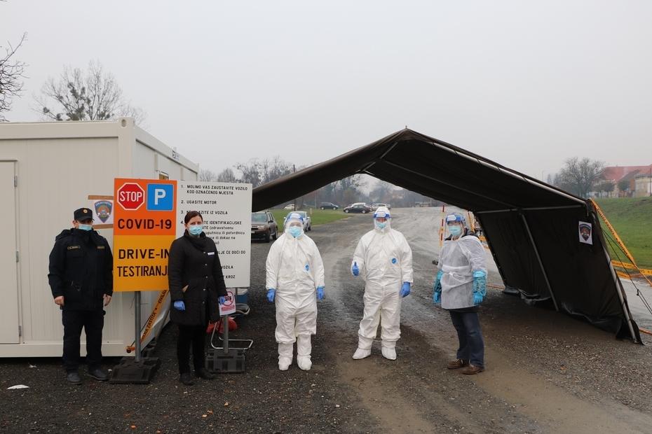 Drive in testiranje na koronavirus na koprivničkom sajmištu