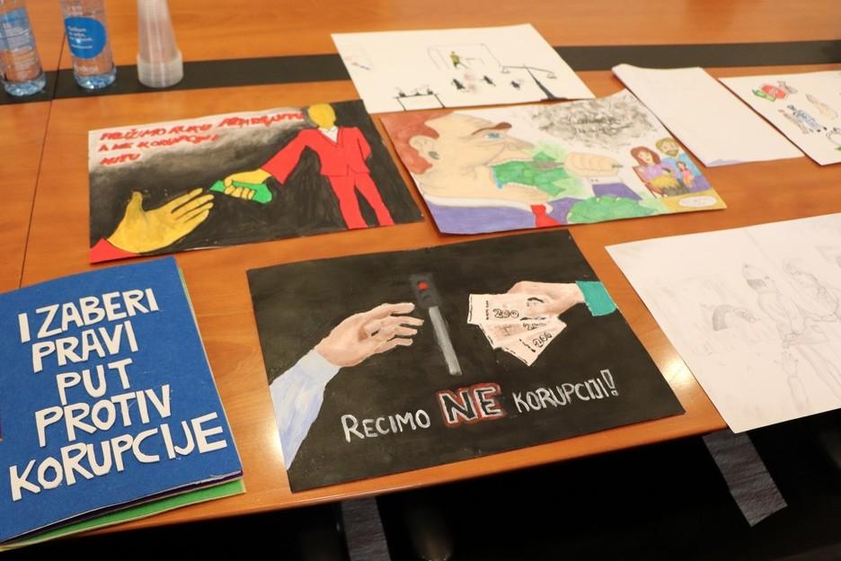 Radovi kreativnog natječaja Moja županija bez korupcije