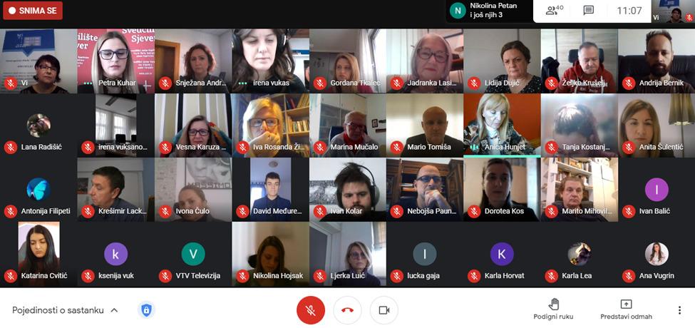 Online predstavljanje projekta Sveučilišta Sjever