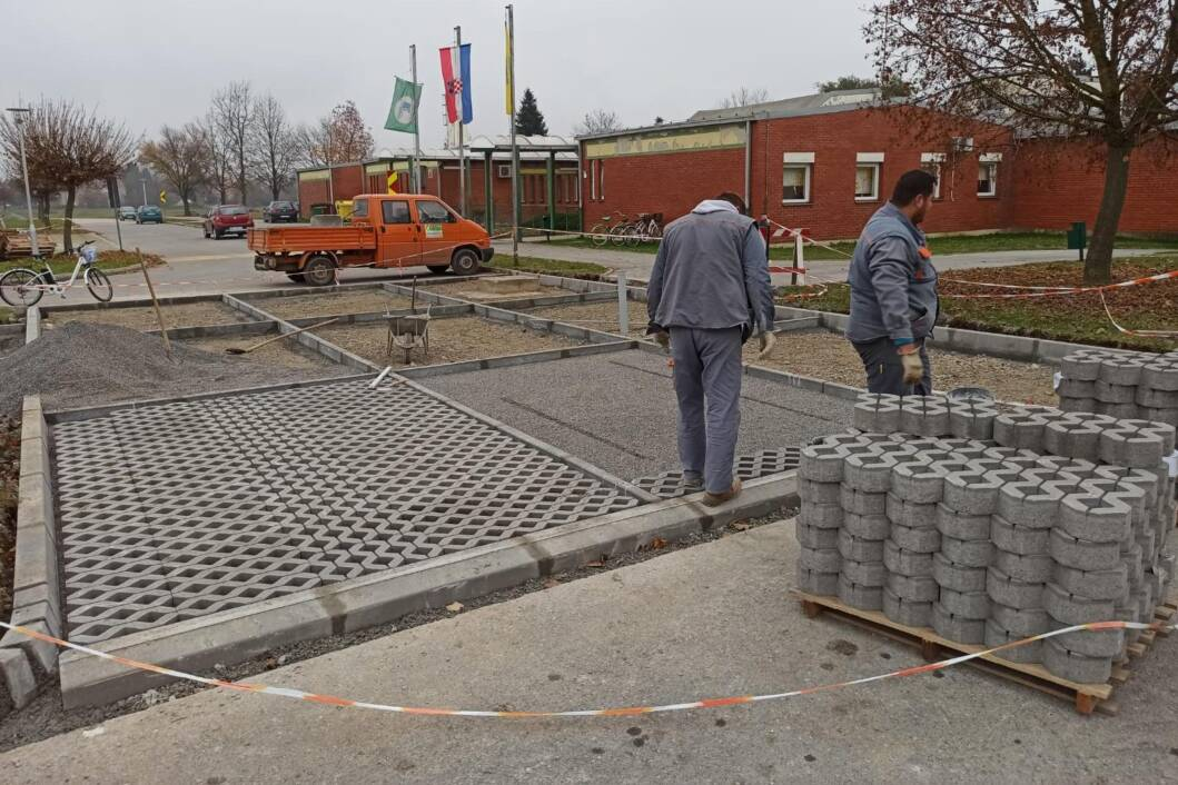 Proširuje se parkiralište kod dječjeg vrtića u Đurđevcu