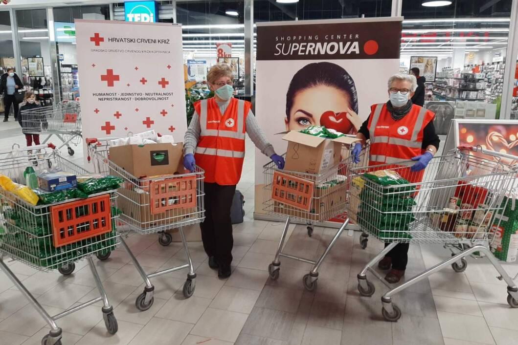 Akcija prikupljanja prehrambenih namirnica i higijenskih potrepština za Socijalnu samoposlugu