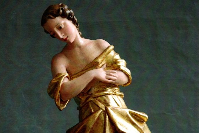 Skulptura anđela iz Donacije Ivana Lackovića Croate u đurđevačkom muzeju