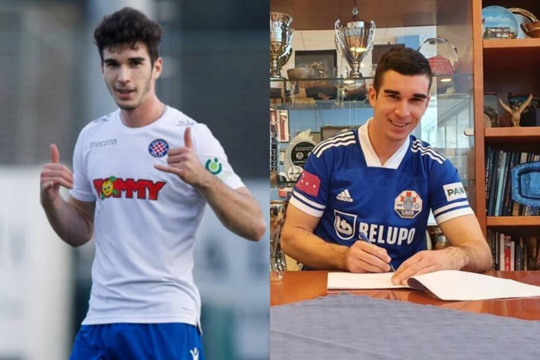 Ivan Delić u dresu Hajduka i Slavena Belupa