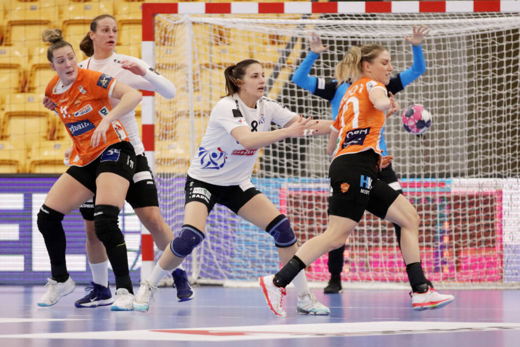 Detalj s utakmice između Odensea i Podravke Vegete