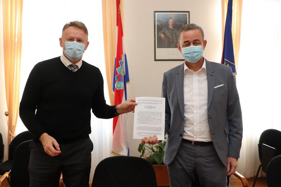 Župan Darko Koren i direktor tvrtke Čazmatrans Promet Damir Pavlović