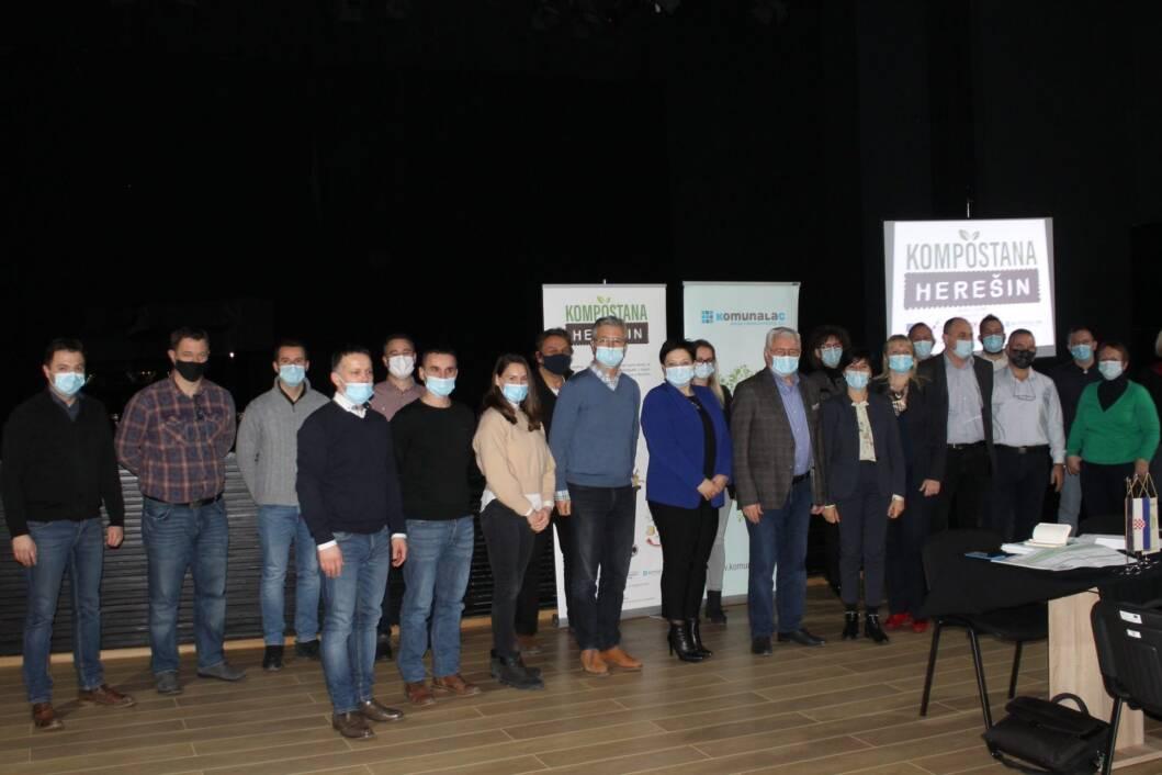 Sudionici koordinacijskog sastanka za projekt kompostane u Herešinu