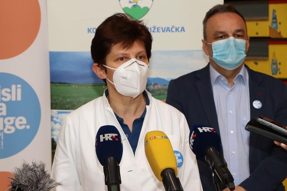 Doktorica Draženka Vadla i načelnik županijskog Stožera Ratimir Ljubić