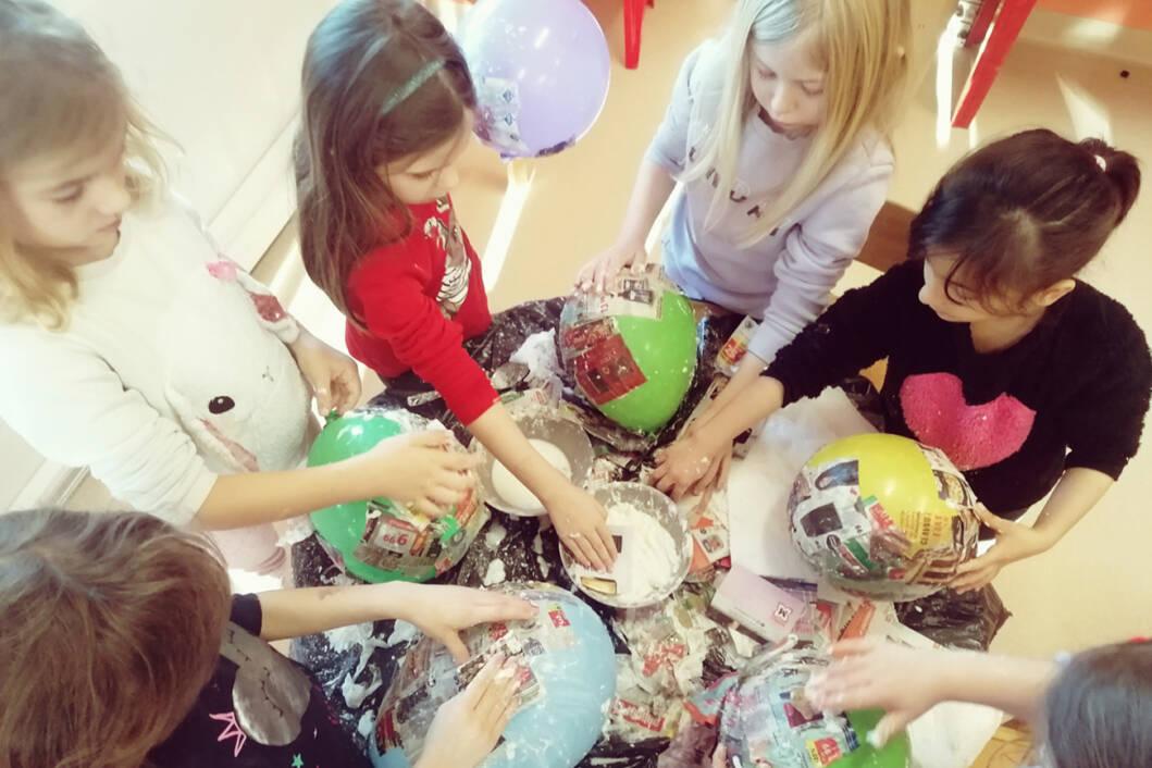 Izrada maski u dječjem vrtiću Fijolica