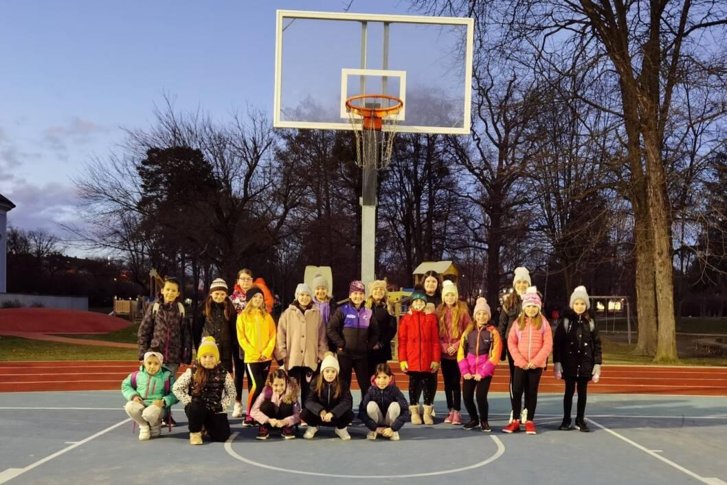Djevojčice iz škole košarke ŽKK Koprivnica