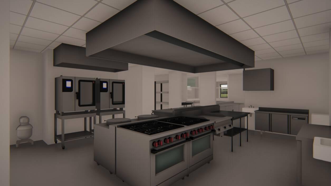 Izgled buduće kuhinje u zgradi Centar za pomoć u kući Koprivnica