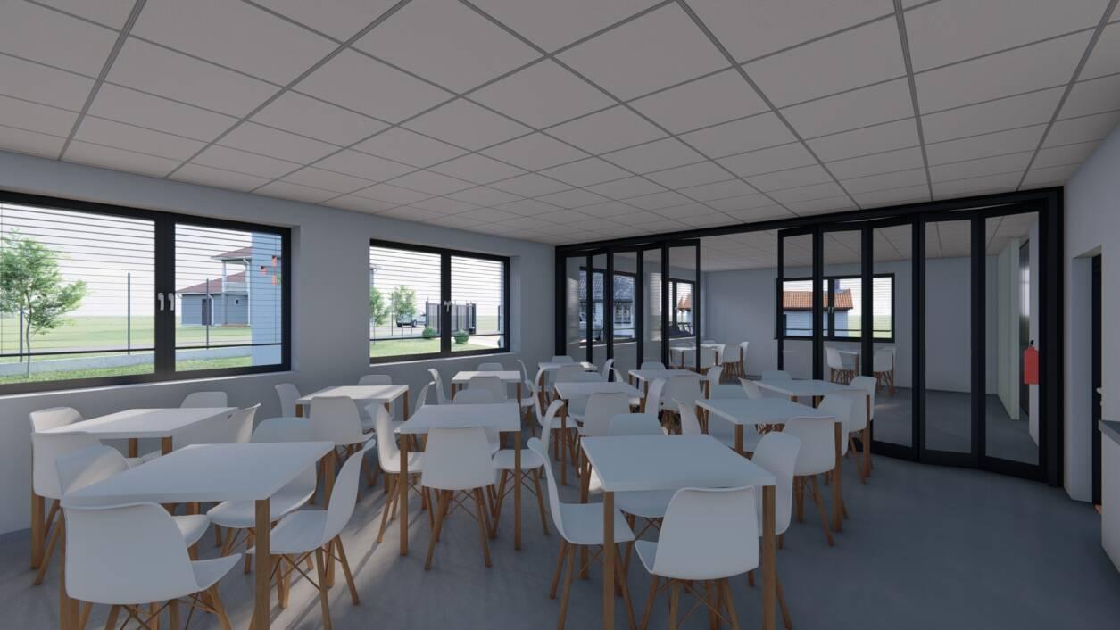 Izgled buduće blagovaonice za korisnike pučke kuhinje u Centru za pomoć u kući Koprivnica