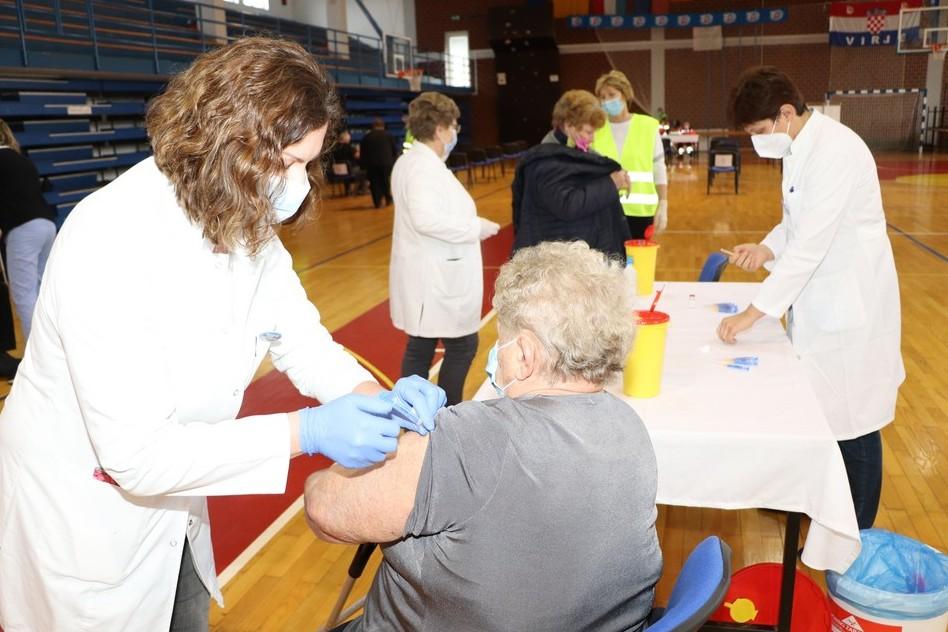 Cijepljenje protiv koronavirusa u Virju