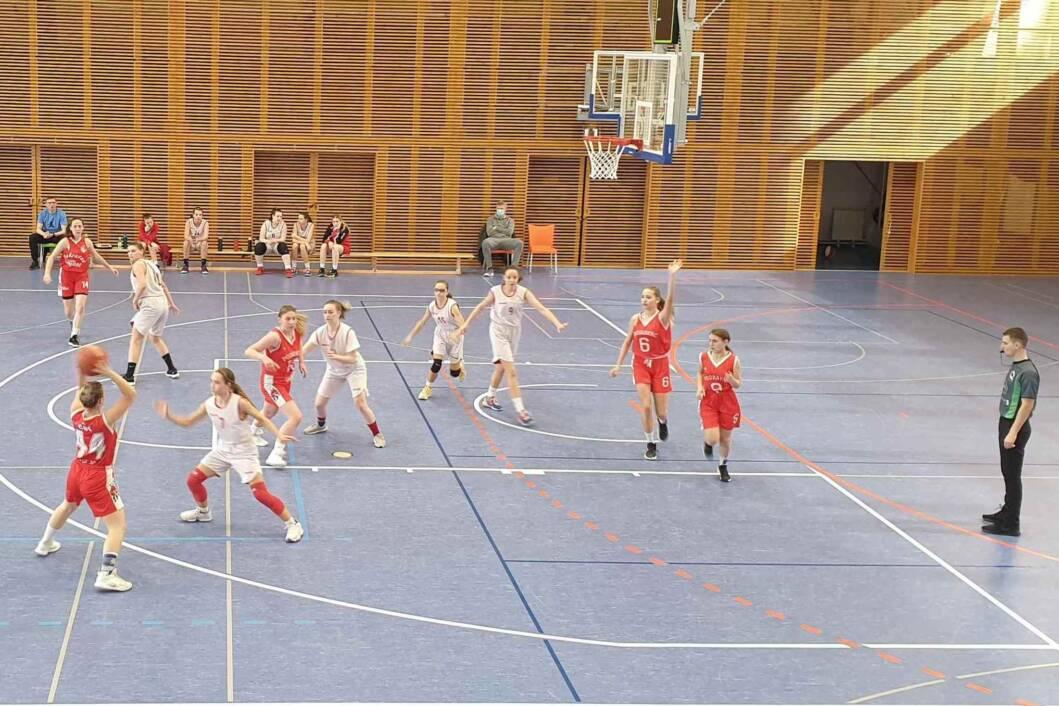 Mlade košarkašice Podravca iz Virja na utakmici
