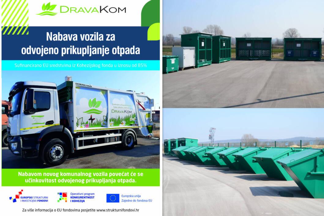 Novo komunalno vozilo poduzeća Drava Kom i reciklažno dvorište u Legradu