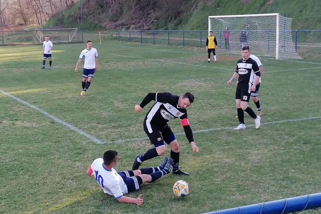 Detalj s utakmice između Bušpana i Drave Selnica Podravska u Kozarevcu
