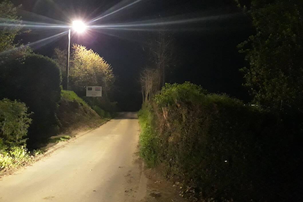 U Trnovcu (pravac – Miholjanski put) postavljena nova led lampa