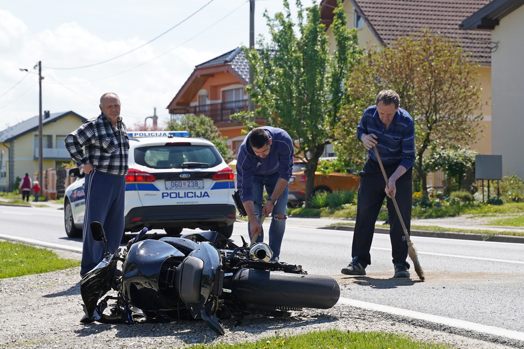 Motocikl nakon nesreće