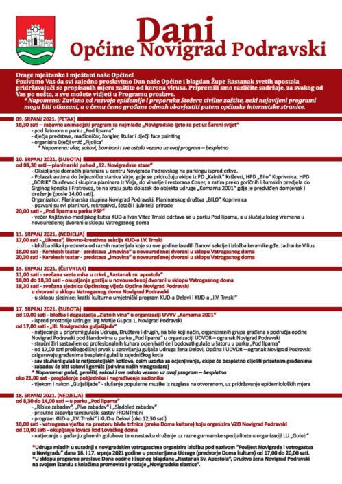 Program proslave Dana Općine Novigrad Podravski
