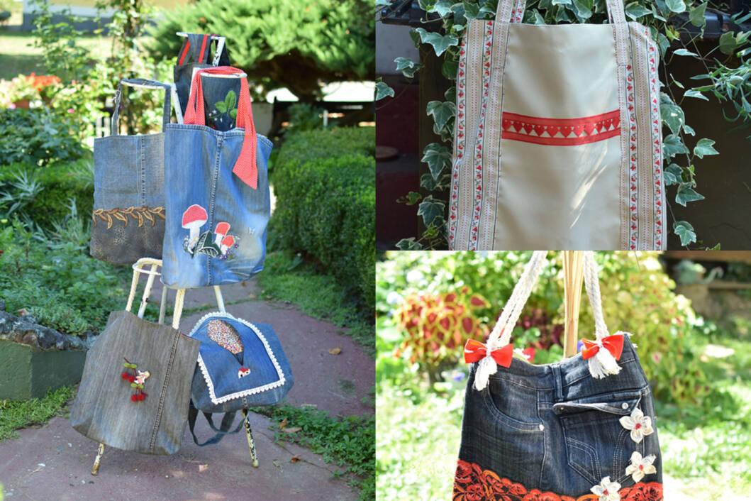 Predivne torbice od otpadnih odjevnih predmeta