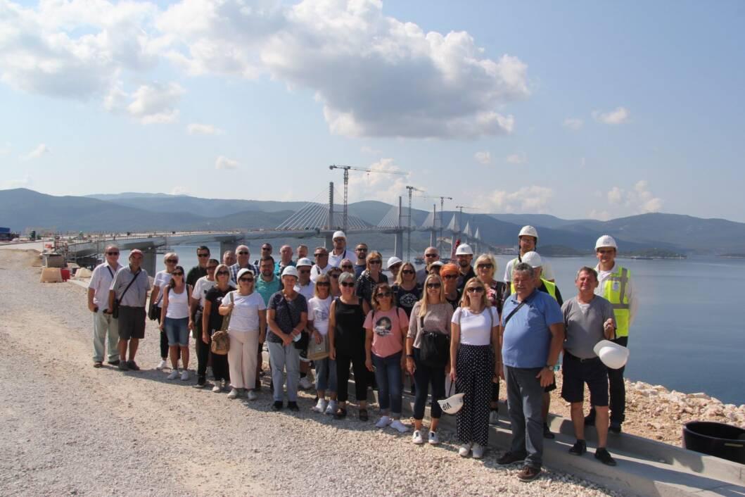 Međimurski građevinari ispred Pelješkog mosta